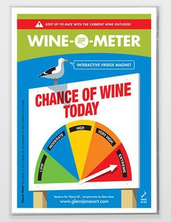 Wine o Meter Fridge Magnet