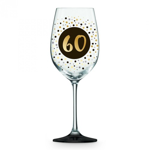 60 Wine Glass Black and Gold