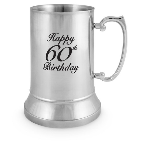 60th Birthday Stainless Steel Mug