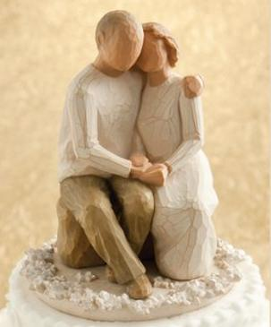 Willow Tree Figurine Anniversary Cake Topper