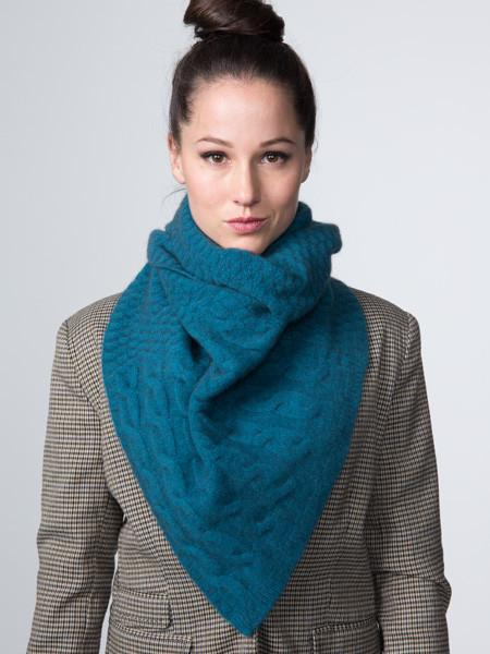 Cable Twist Scarf Teal