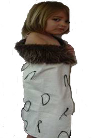Child's Calico Korowai Cloak - Small