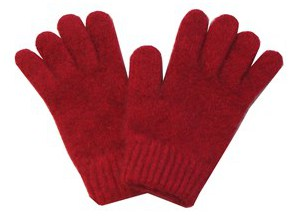 Child's Possum Merino Glove Red