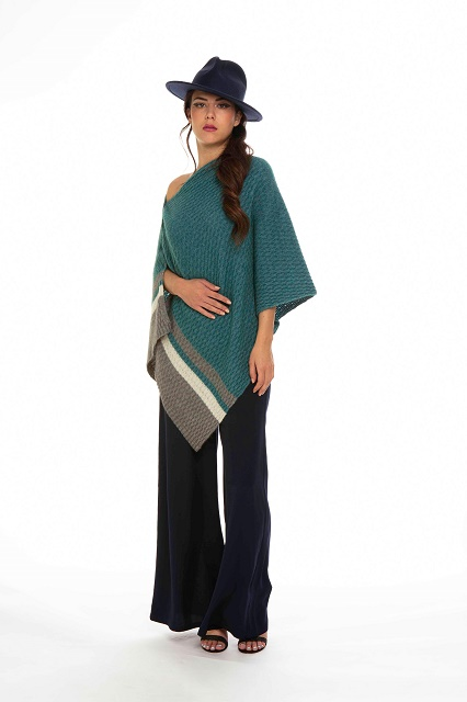 Colour Block Poncho by Koru Lagoon