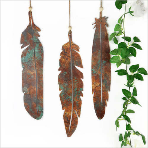 Copper Patina Feather Set