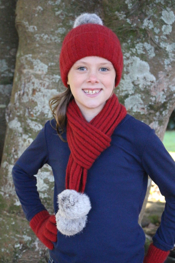 Cottontail Scarf Red