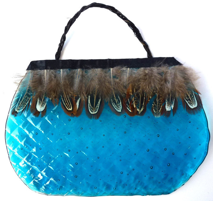 Glass Kete Blue
