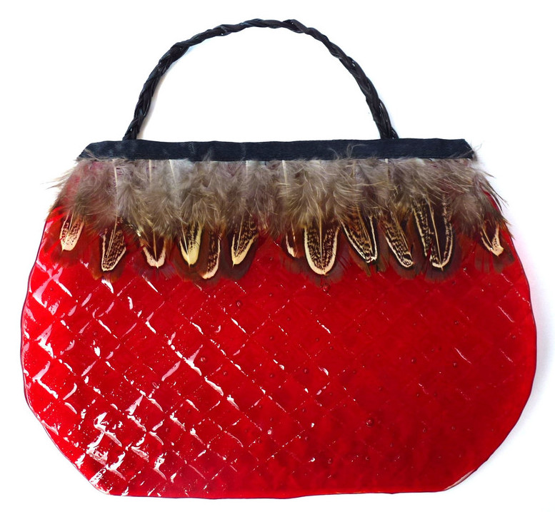 Glass Kete Red