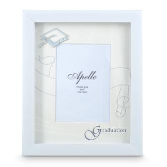 Graduation Frame White