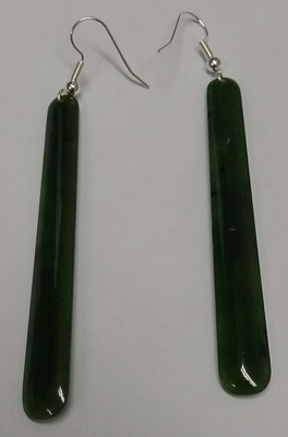 Greenstone Drop Earrings  70 mm