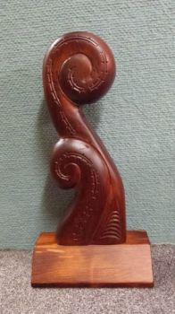 Hand Carved Two Koru
