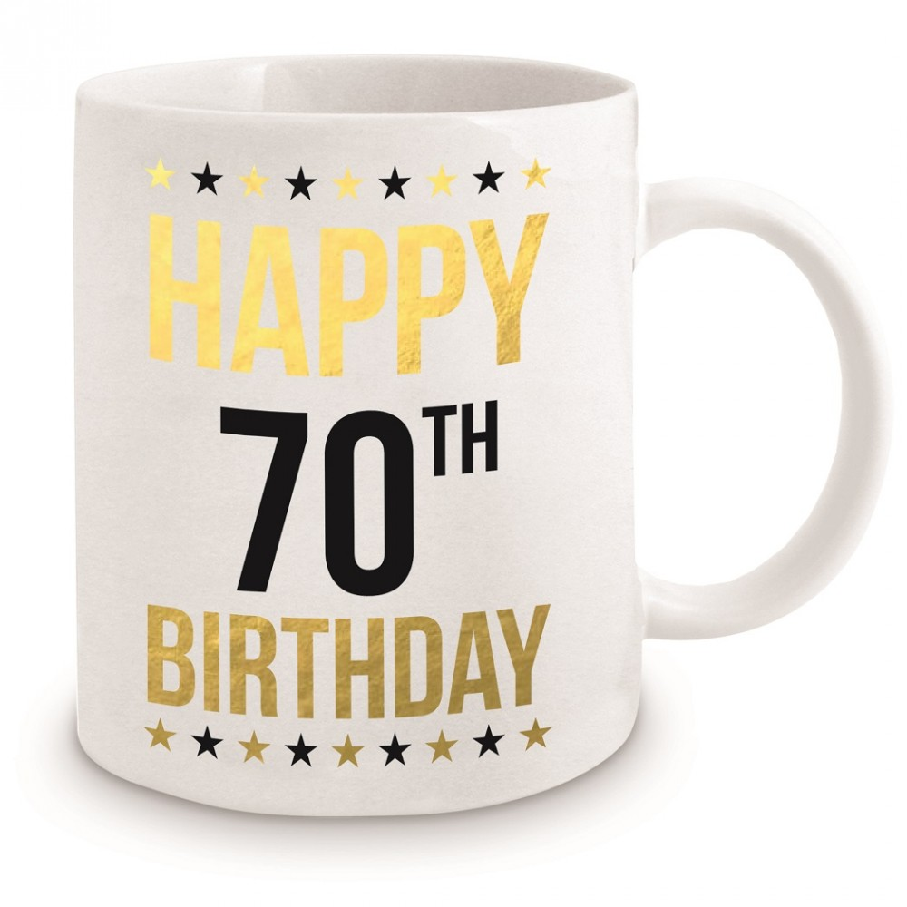 Happy 70th Birthday Mug