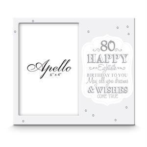 Happy 80th Birthday Photo Frame