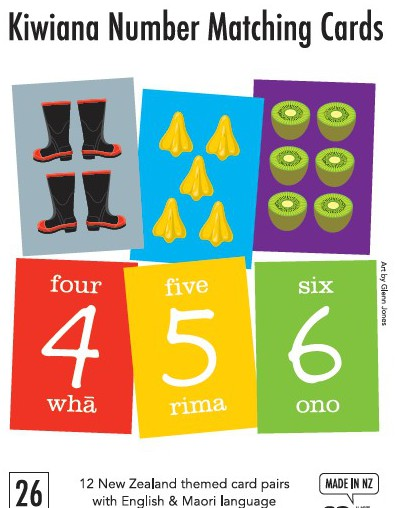 Kiwiana Number Matching Cards