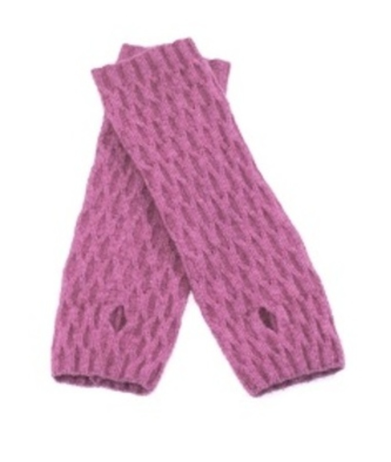 Lace Wrist Warmers Rose