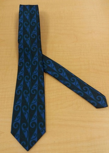 Maori Tie Blue and Green