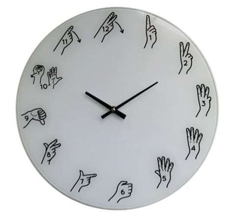 NZ Sign Language Clock