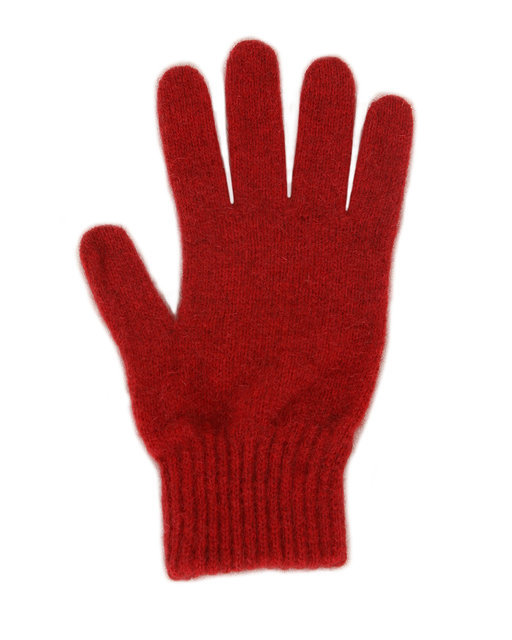 Possum Merino Gloves Red