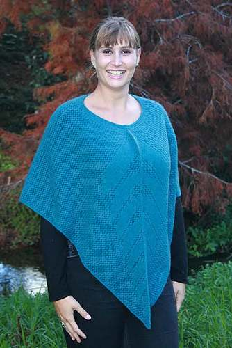 Possum Merino Lace Poncho Teal
