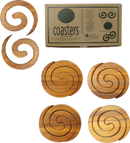 Rimu Coaster Set by Romeyn Woodcrafts