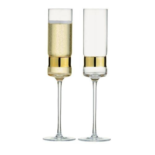 Soho Champagne Flutes Set of 2 Gold