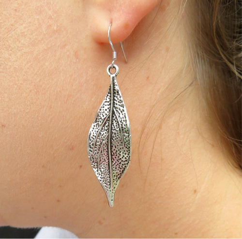 Twisted Leaf Earrings