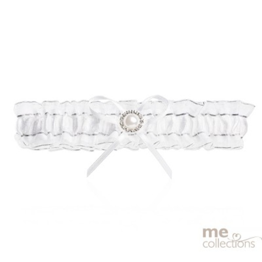 Wedding Garter White with Pearl