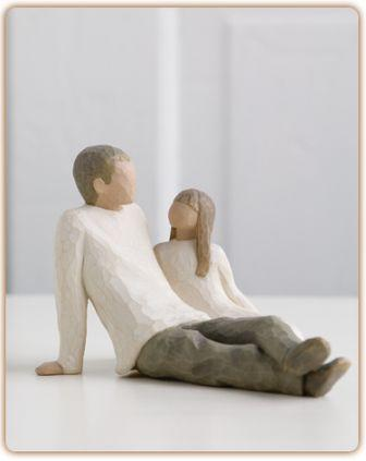 Willow Tree Figurine   Father and Daughter