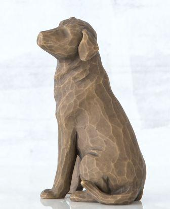Willow Tree Figurine Love My Dog Dark