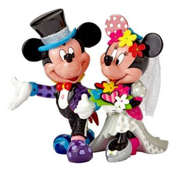 Mickey and Minnie Wedding Figurine by Romero Britto