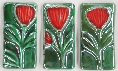 Jenz Pohutukawa Tiles - Set of 3