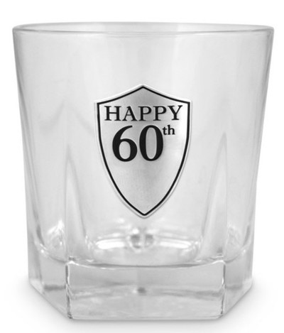 60th Glass Tumbler