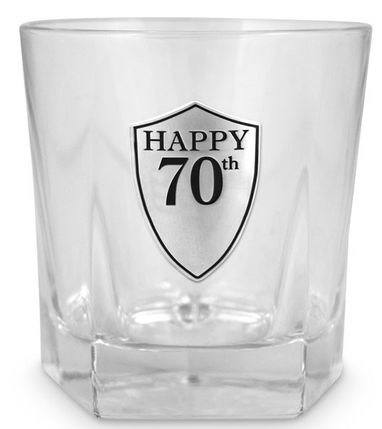 70th Whiskey Tumbler