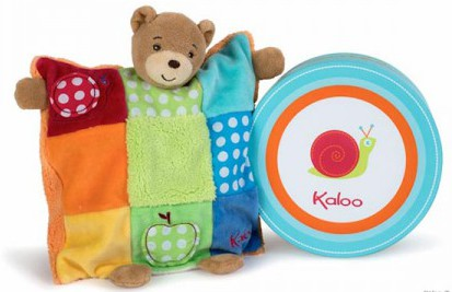 Kaloo Colours Doudou Bear Puppet Patchwork