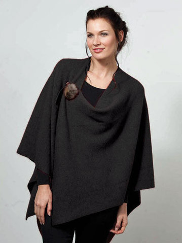 Possum Merino Cocoon Wrap Black