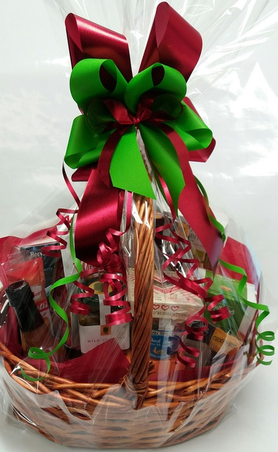 Merry Christmas BIG Basket - bow colour to suit